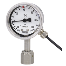 Bourdon tube pressure gauge with switch contacts
