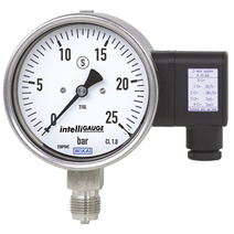 Bourdon tube pressure gauge with output signal